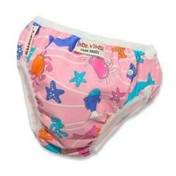 Imse Vimse Swim Diaper Pink: LARGE (20-26 lbs)