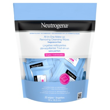 Neutrogena® All-in-One Make-up Removing Cleansing Wipes Singles Fragrance Free