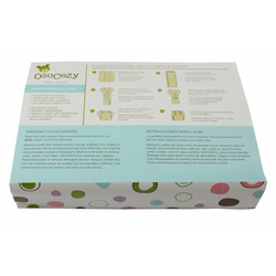 OsoCozy 6 Pack Eco-Friendly Prefolds Bleached Cloth Diapers, Size 2