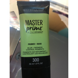 Maybelline master prime+base blur, redness and control pigments