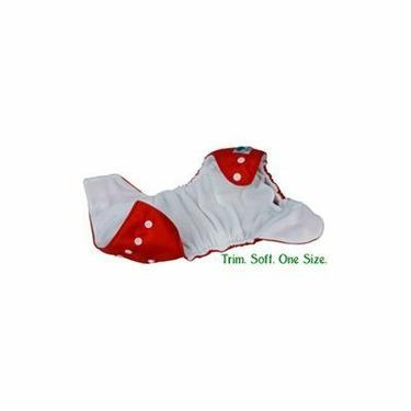 Tiny Tush Elite One-Size Cloth Diaper Aplix (Velcro-type) RED