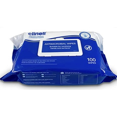 Clinell Anti Microbial Wipes pack of 100