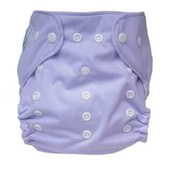 Tiny Tush Elite One-Size Cloth Diaper Aplix (Velcro-type) LILAC