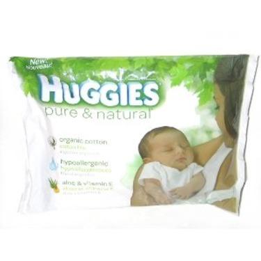 Huggies Pure & Natural Organic Cotton Baby Diaper - Travel Size Single