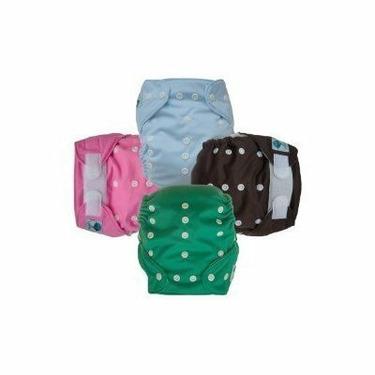 Tiny Tush Elite One-Size Cloth Diaper Aplix (Velcro-type) SAGE