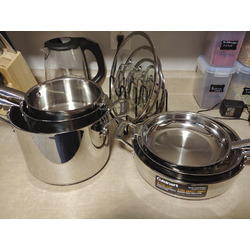 Cuisinart 11-pc Stainless Steel Nesting Cookware Set