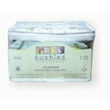 Kushies Classic Fitted Diapers 5 pack - Toddler - Neutral