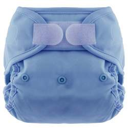 Blueberry Coveralls Hook/Loop Diaper, Periwinkle