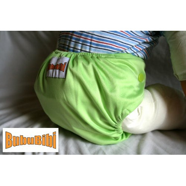 Bamboo Pocket Snaps Cloth Diaper/ Nappy - OS - Square Prints