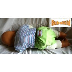 Bamboo Pocket Snaps Cloth Diaper/ Nappy - OS - Square Prints