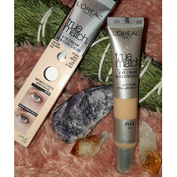 L'Oreal Paris True Match Eye Cream in a Concealer with Hyaluronic Acid Fair N1-2