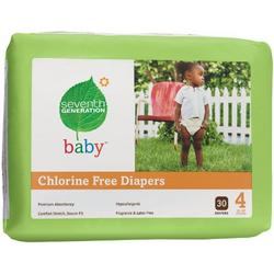 Seventh Generation Chlorine Free Baby Diapers (Pack of 4)