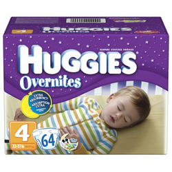 Huggies Overnites Diapers, Size 4, Big Pack, 64-Count