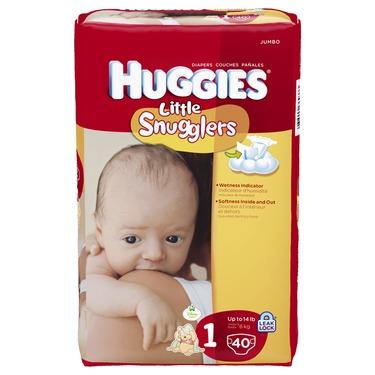 Huggies Little Snugglers Diapers, Newborn, 84-Count