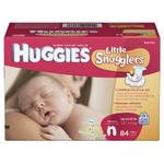 Huggies Little Snugglers Diapers, Newborn, 84-Count