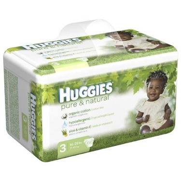 Huggies Pure & Natural Diapers, Size 3, 66-Count (Pack of 2)