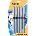 BIC Grip Roller Pens, Assorted, Fine-0.7mm, 5-pack