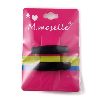 Madammoselle Kid's Solid Black Hair Clips