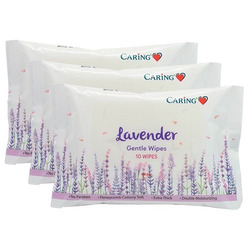 CARING PHARMACY LAVENDER GENTLE WIPES
