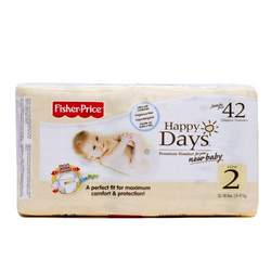 Fisher Price Day Jumbo Pack Baby Diapers, Size 2 (12-18lbs.) 42 Count (Pack of 6)