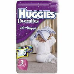 Huggies Overnites Diapers, Jumbo Pack, Size 3, 16-28 lbs 31 ea