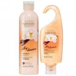 Avon Naturals vanilla moisturizing hand and body lotion