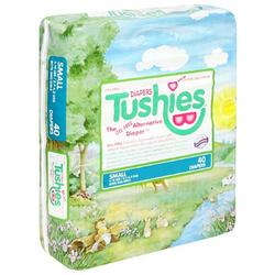 Tushies Diapers, Small (6-14lbs), Case Pack, Four - 40 Count Packs (160 Diapers)