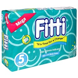 Fitti Mega Baby Diapers, Size 5, 46-Count Packages (4-Pack) (184 Diapers)