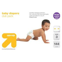up & up® Diapers Club Box - Size 3 (144 Count)