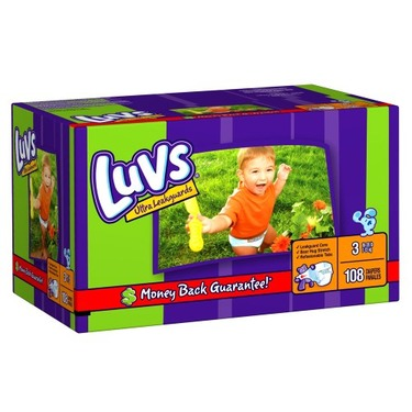 Luvs Diapers Big Pack - Size 3 (108 Count)