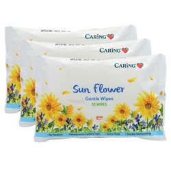 CARING PHARMACY SUNFLOWER GENTLE WIPES