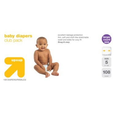 up & up™ Diapers Club Box - Size 5 (108 Count)