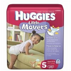 Huggies Supreme Little Movers Diapers, Jumbo Pack, Size 5, 27+ 23 ea