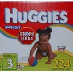 Huggies Size 3 (16-28lbs) 224 Diapers