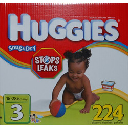 Huggies Size 3 (16-28lbs) 224 Diapers