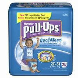 Huggies Pull-Ups Training Pants for Boys with Cool Alert, Jumbo Pack, Size 2T-3T 26 ea