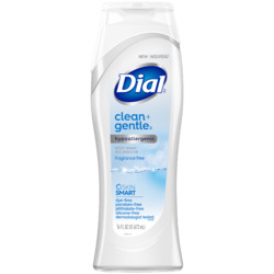 Dial® Clean + Gentle Fragrance Free Body Wash