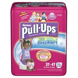 Huggies Pull-Ups Training Pants for Girls with Cool Alert, Jumbo Pack, Size 3T-4T 23 ea