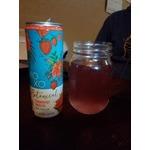 Xoxo botanical strawberry hibiscus wine spritzer