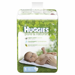 Huggies Pure & Natural Baby Diapers - Size 1 (80 Count)