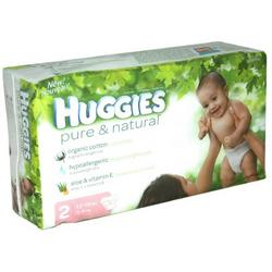 Huggies Pure & Natural Baby Diapers, Step 2, 30-Count