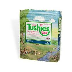 Tushies Gel Free Disposable Diapers, Size S (6-14 lbs), 40 ct