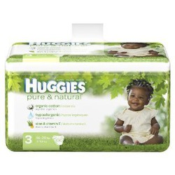 Huggies Pure & Natural Baby Diapers - Size 3 (66 Count)