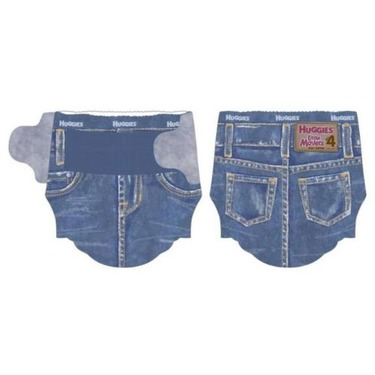 Huggies Jeans Little Movers Diapers, Jumbo Pack, Size 4, 22-37 lbs 25 ea