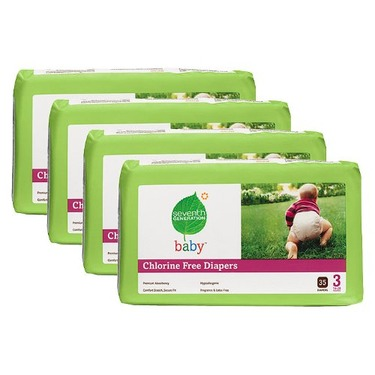 Seventh Generation Baby Diapers - Size 3