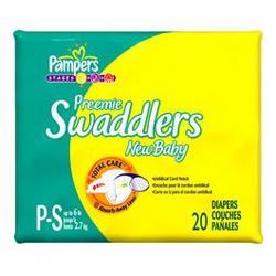 Pampers Swaddlers Preemie Size (3-6 lbs) 80 diapers