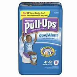 Huggies Pull-Ups Training Pants for Boys with Cool Alert, Jumbo Pack, Size 4T-5T 19 ea
