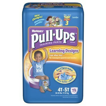 Huggies Pull-Ups Training Pants for Boys with Learning Designs, Jumbo Pack, Size 2 4T-5T 19 ea