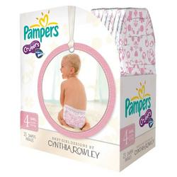 Pampers Cruisers Designer Diapers by Cynthia Rowley Girl Size 4 (23 count)