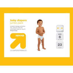 up & up™ Baby Diapers Jumbo Pack - Size 6 (23 Count)